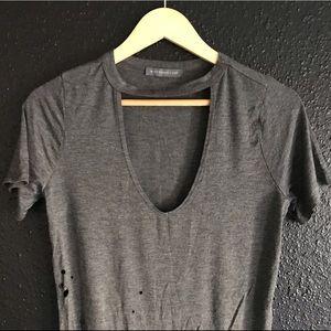 Distressed stylish women's blouse